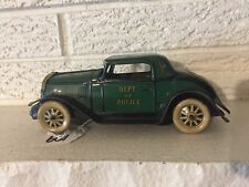 Rare Antique Marx Dept. of Police Car Tin Litho Siren Friction Motor Car Auto