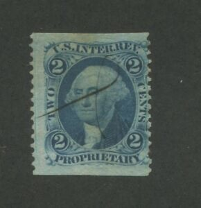1862 United States Internal Revenue Proprietary Stamp #R13b Used Average