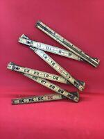 """Vintage Lufkin 72"""" X46 Red End - Wooden Folding Ruler Extension"""