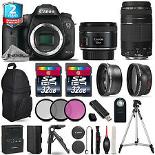 Canon EOS 7D Mark II Camera + 50mm 1.8 + 75-300mm III + 3PC Filter +2yr Warranty