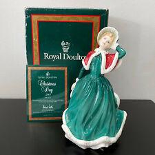 """Royal Doulton Pretty Ladies Christmas Day 2001 Figurine HN4315 Bone China 8.5"""""""