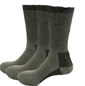 Merino Wool Mens Thick Heavy Duty Wool Blend Work Hiking Boot Socks Winter Warm