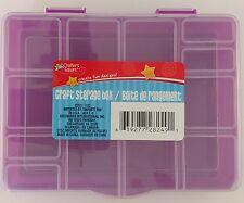 "SMALL PLASTIC LOCK-TOP STORAGE BOXES 15 SECTIONS 6.5""x5.2""x1.2"" SELECT: Color"