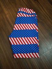 New listing Lularoe Leggings Tc Multicolored American Flag Print