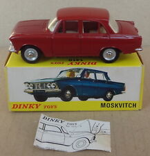 [original] French Dinky Toys - 1410 Moskvitch 408 - maroon - instruction leaflet