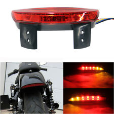 Brake LED Turn Signal Tail light Red License Plate For Motorcycle Chopper Bobber