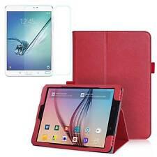 COVER Custodia SMART Rosso+ Pellicola VETRO per Samsung Galaxy TAB S3 T820 /T825