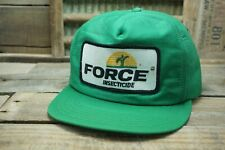 Vintage FORCE INSECTICIDE Snapback Trucker Cap Hat Patch Made In USA