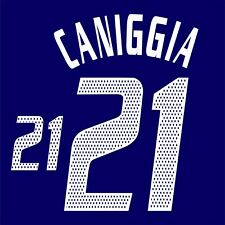 Caniggia 21. Argentina Away football shirt 2002 - 2003 FLEX NAMESET NAME SET