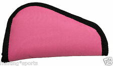 "Pink Gun Rug Soft Padded Pistol Case size 8""x5"" perfect for small 380"