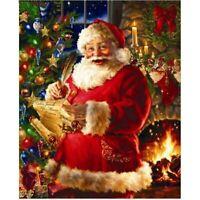 Santa Claus DIY 5D Full Drill Diamond Painting Embroidery Cross Stitch Xmas Gift