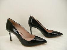 Miu Miu Black Patent Leather Glitter Pumps Heels Shoes Sz 36.5 / 6