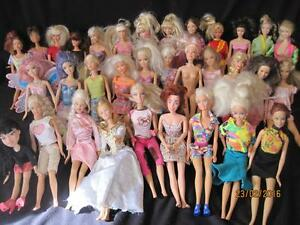 Huge 32 Barbie Doll lot Mattel,  Disney, Bratz some vintage