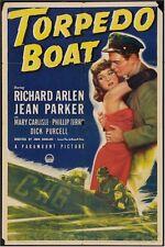 TORPEDO BOAT, VINTAGE MOVIE POSTER ONE SHEET 1942