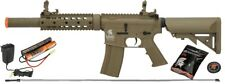 Lancer Tactical M4 GEN 2 SD Airsoft Gun Rifle AEG Metal Gears Raider w/ 9.6v TAN