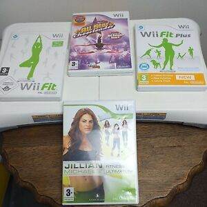 Wii Fit Balance Board+WiiFit/ Wii Fit Plus/ AllStar Cheerleader/ JMs Fitness Ult