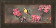 """""""THE COLOR OF GOLD"""" by Jerry Gadamus FRAMED PRINT Yellow Finch Song Bird L/E S/N"""