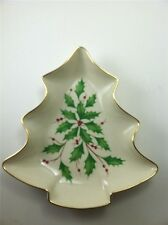 Lenox Christmas Holiday Tree Candy Dish ~ Dimension Collection ~ Perfect Cond.