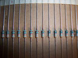 50pcs-Philips SFR25 620R 0.4 W 5/% Métal Film Résistance