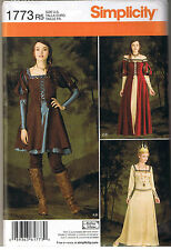 Renaissance Medieval Dress Gown Queen Costume Sewing Pattern Size 6 8 10 12 14