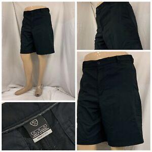 Nike Golf Shorts 34 Black Flat Front 100% Polyester Straight YGI V1-504