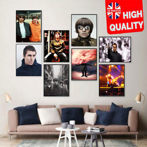 Oasis Liam Gallagher British Rock Collection Print Poster Wall Art Picture A4+