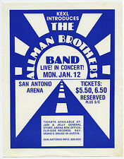 The Allman Brothers Band Original 1976 Concert Handbill