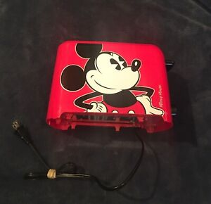 Disney Mickey Mouse Red 2 Slice Imprint Toaster Mickey on Toast Model # DCM-21