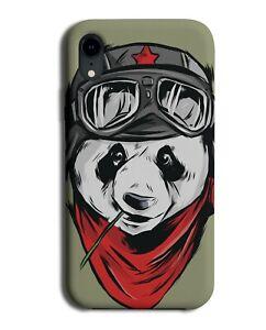 Biker Panda Phone Case Cover Funny Pandas Bear Motorbike Outfit Gear J869