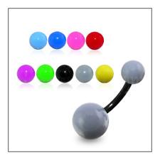 Piercing Ombelico Belly Ring Plastica Acrilica Multicolore Personalizzabile