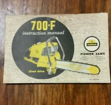 PIONEER CHAIN SAW 700-F INSTRUCTION MANUAL