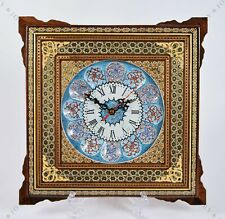 Wall Clock Handmade Wall art Inlay With Copper/ Christmas gift
