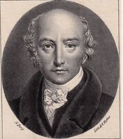 Portrait XIXe George Canning Prime Minister United Kingdom Lithographie 1830
