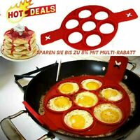 Silicone Non Stick Flipper Pancake Pan Perfect Breakf Maker Egg Omelette-To N3D2