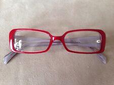 EyeMagine red white & gray reading glasses +1.25 47-18-142