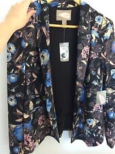 Forever 21 Flowered Floral Blazer Size Large NEW WITH TAGS
