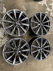 "2008 Lexus ISF IS-F OEM 19"" 19x8 +45 19x9 +55 Wheels Rims TPMS Center Caps"