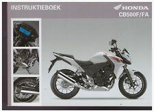 Instruktieboek Honda CB500F CB500FA 2012