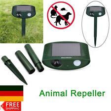 Ultraschall Tiervertreiber Hundeschreck Katzenschreck Garten Solar PIR Repeller