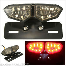 DC12V Motorcycles Smoke 18LED Brake Rear Tail Light Turn Signal Integrated Lamp