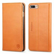 Flip Cases IPhone Plus Case, SHIELDON Genuine Leather Wallet Book Design With