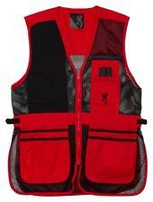 Browning Trapper Creek Mesh Shooting Vest Black Red Men's Large 3050267103
