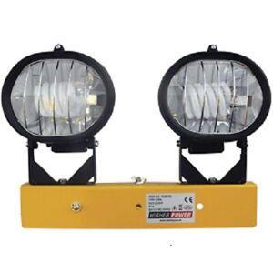 Portable Spiralite Twin Head Version - Flood light - 110volt - Site Use