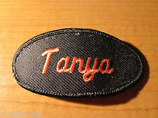 TANYA Uniform Name Tag Embroidered Cloth PATCH Service Station Biker Utility
