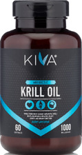 Kiva Antarctic Krill Oil (HIGH PURITY) 1000mg with Astaxanthin, Omega-3, DHA,EPA