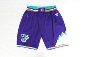 Utah Jazz Retro snow mountain Purple Basketball Shorts Size: S-XXL