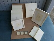 LOT OF 9 - Pottery Barn Wood Gallery Frames Cadre WHITE 5X7 4x4 & Silver Bamboo