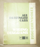 1980 Chevrolet All Passenger Cars Models Service Wiring Diagrams Manual