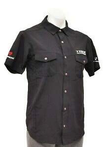 Trek Factory Racing Bontrager Woven Casual Short Sleeve Shirt Men SMALL Black