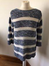 Kew Pretty Cotton Mix Loose Knit Jumper Size S